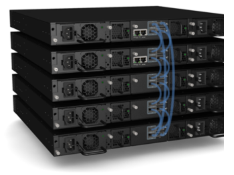Brocade ICX 6610 Switches can be stacked using four standard 40 Gbps QSFP ports that provide a fully redundant virtual chassis backplane with 320 Gbps of stacking bandwidth.